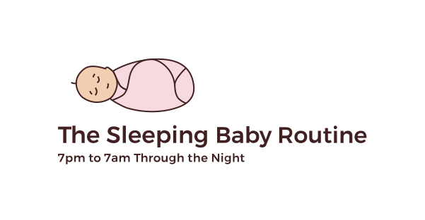 Sleeping Baby Routine